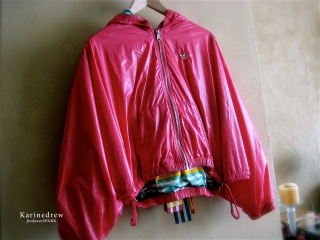 Adidas Originals Medal Red Windbreaker Jacket (Bows)