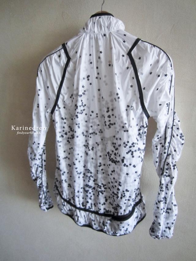 Adidas by Stella McCartney stars white windbreaker coat